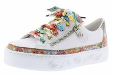 Rieker 'N37L3' Ladies Shoes (White Multi)