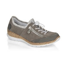 Rieker 'N42F1' Ladies Shoes (Grey/Silver)