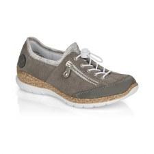 Rieker 'N42F1' Ladies Shoes (Grey/Silver)