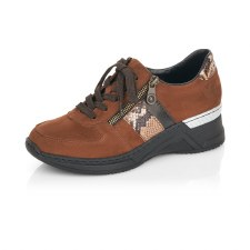 Rieker 'N4321' Ladies Shoes (Brown Combi)