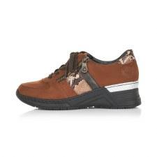 Rieker 'N4321' Ladies Shoes (Brown Combi)