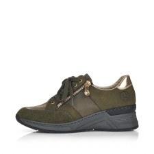 Rieker 'N4322' Ladies Shoes (Olive/Gold)