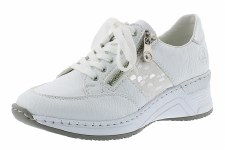 Rieker 'N4322' Ladies Shoes (White/Silver)