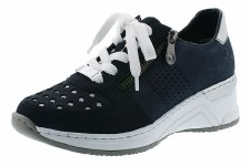 Rieker 'N4326' Ladies Shoes (Navy/Ice)