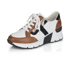 Rieker 'N6303' Ladies Shoes (White Multi)