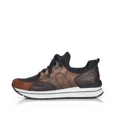 Rieker 'N6983' Ladies Shoes (Black/Bronze)