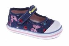 Pablosky '953621' Girls Canvas Shoes (Navy Glitter)