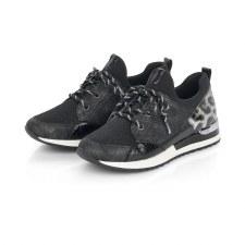 Remonte 'R2503' Ladies Shoes (Black/Grey)