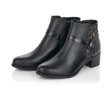 Remonte 'R5180' Ladies Ankle Boots (Black)