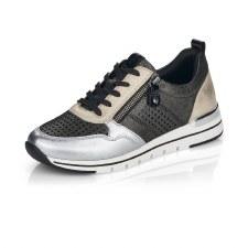 Remonte 'R6702' Ladies Shoes (Black/Pewter)