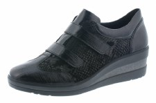 Remonte 'R7207' Ladies Wide Fitting Shoes (Black)