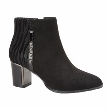 Lotus 'Rebel' Ladies Ankle Boots (Black)