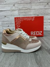 Redz 'Q7110' Ladies Shoes (Beige Multi)