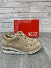 Redz '6G20602' Ladies Shoes (Beige/Gold)