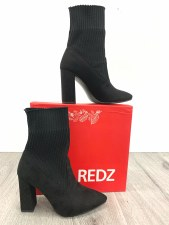 Redz '95EGT' Ladies Sock Boots (Black)