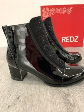 Redz 'Glara' Ladies Ankle Boots (Black Patent)