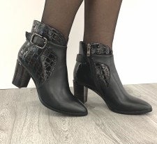 Redz 'D1370' Ladies Ankle Boots (Black)