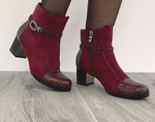 Redz 'F1065' Ladies Ankle Boots (Burgundy)