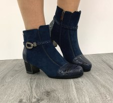 Redz 'F1065' Ladies Ankle Boots (Navy)