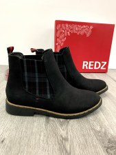 Redz 'F725' Ladies Ankle Boots (Black)