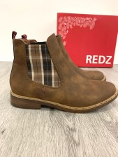 Redz 'F725' Ladies Ankle Boots (Camel)