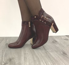 Redz 'X3839' Ladies Ankle Boots (Wine)