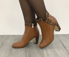 Redz 'X3839' Ladies Ankle Boots (Tan)