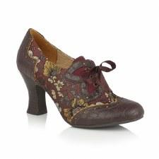 Ruby Shoo 'Daisy' Ladies Heels (Russet Multi)