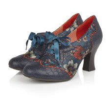 Ruby Shoo 'Daisy' Ladies Heels (Navy Multi)