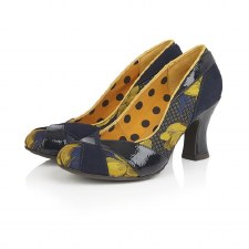 Ruby Shoo 'Lulu' Ladies Heels (Navy/Mustard)