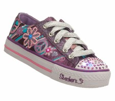 Skechers 'Twinkle Toes: Groovy Baby' Casual Sneakers (Purple)