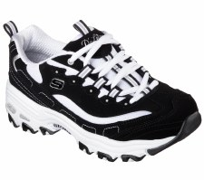 "Skechers ""D'Lites - Biggest Fan"" Womens Trainers (Black/White)"
