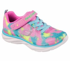 Skechers 'Pepsters' Girls Sport Shoe (Pink Multi)
