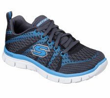 Skechers 'Flex Advantage - Paybacks' Boys Sport Shoes (Grey/Blue)