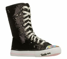 Skechers 'Bizzy Bunch' High Top Sneakers (Black)