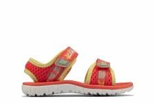 Clarks 'Surfing Tide Toddler' Girls Sandals (Coral)