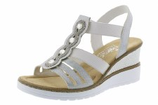 Rieker 'V3572' Ladies Wedge Sandals (Ice)