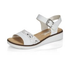 Rieker 'V3626' Ladies Sandals (White/Silver)