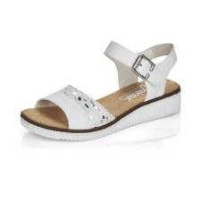 Rieker 'V3626' Ladies Sandals (White/Silver)