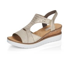 Rieker 'V3807' Ladies Sandals (Beige)