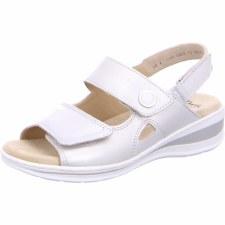 Ara '56514' Ladies Sandals (White/Gold)