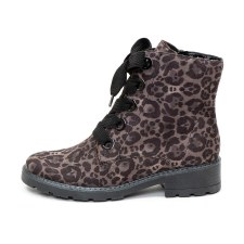 Ara '63103' Ladies Ankle Boots (Grey Leopard)