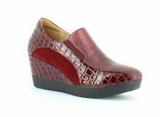 Heavenly Feet 'Mystic' Ladies Wedge Shoes (Burgundy)
