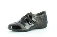 Heavenly Feet 'Clara' Ladies Shoes (Black Patent)