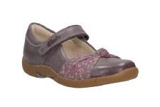 Clarks 'Binnie Nia' Girls First Shoes (Heather)
