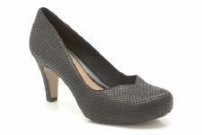 Clarks 'Chorus Voice' Court Shoes (Black Snake)