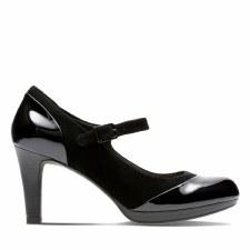 Clarks 'Adriel Carla' Ladies Heels (Black Combi)