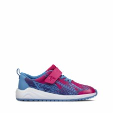 Clarks 'Aeon Pace Kid' Childrens Trainers (Pink Combi)