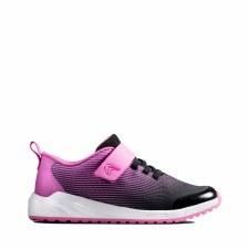 Clarks 'Aeon Pace Kids' Girls Trainers (Pink)