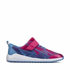 Clarks 'Aeon Pace Youth' Childrens Trainers (Pink Combi)